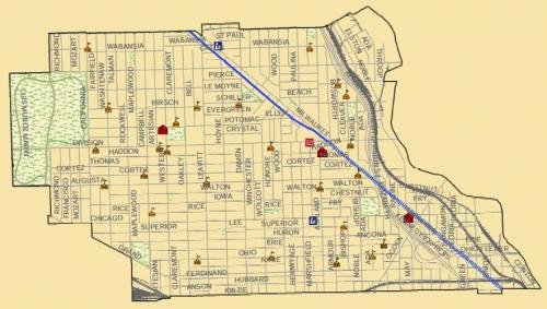 West Town Chicago Map.Open House Chicago Includes The West Town Community Area Our Urban